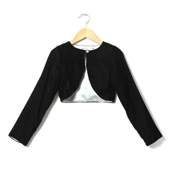 Reversible Bolero in Black Velvet and Dark Silver
