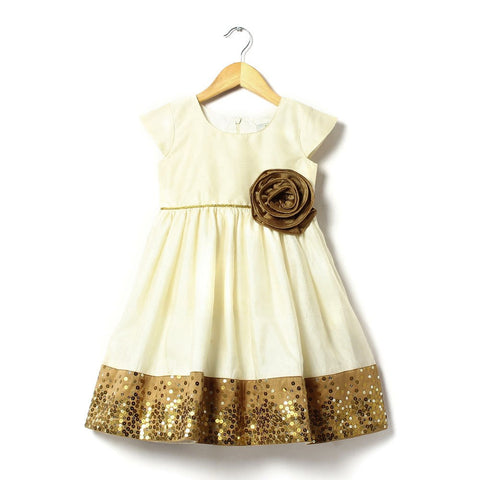 Girl Party Dresses - Golden Girl