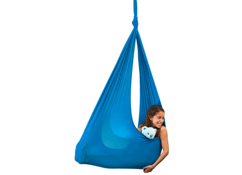 Girl in Blu Sensory Swing
