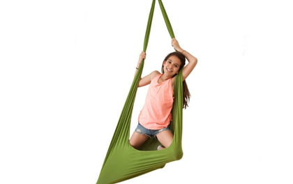 Girl play with Therapy Swing