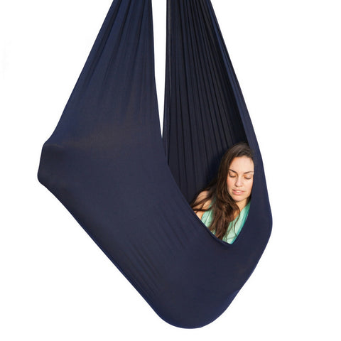jumbo therapy swing   dark blue   up to 165 lbs weighted blankets   sensory swings   inyard products  rh   inyardproducts