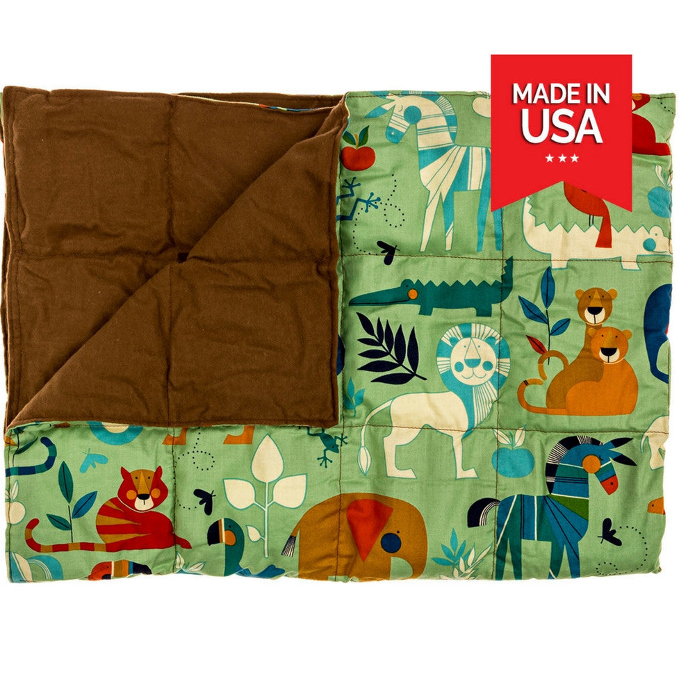 Shop premium weighted blanket for kids mini safari at inyard premium weighted blanket for kids mini safari nvjuhfo Image collections