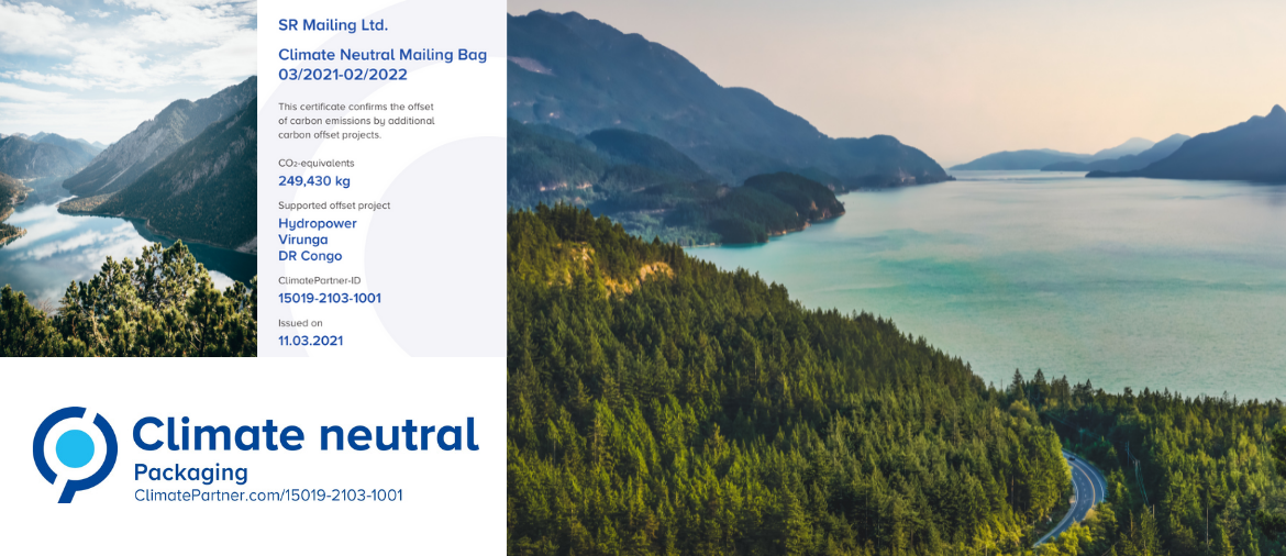 Our SR MAILING BAGS series is climate neutral