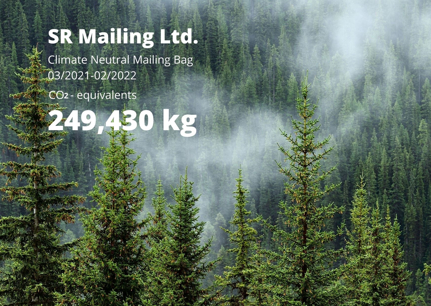 Climate neutral Mailing Bags  | SR Mailing Ltd
