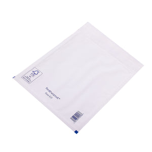 Padded Bubble Envelope in White Internal Size 220x265mm E/2