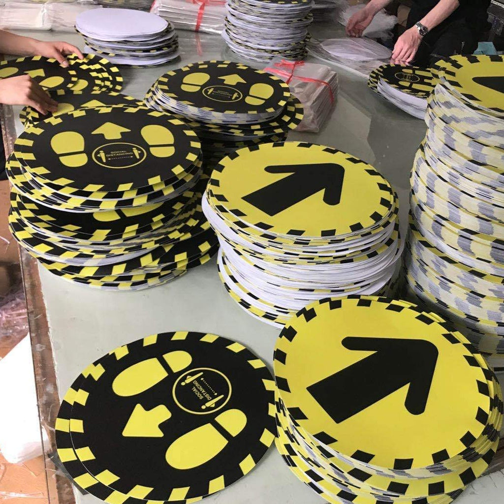 Keep Distance Floor Sticker,SR Mailing Ltd,