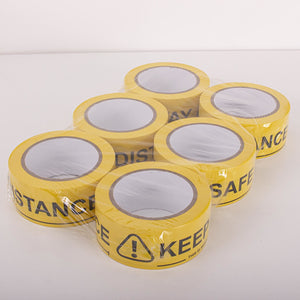 48mmx33m Stay Alert, Keep Social Distance PVC Tape,SR Mailing Ltd,