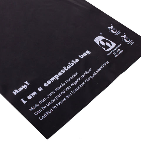 Compostable Black Mail Bag A3 Size 399x455mm