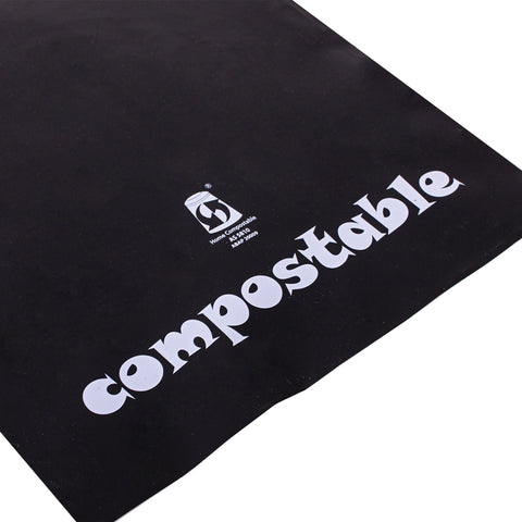 Compostable Black Mail Bag A4 Size 255x325mm