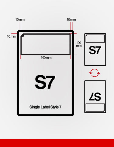 (SRL7) Single Integrated Label,SR Mailing,