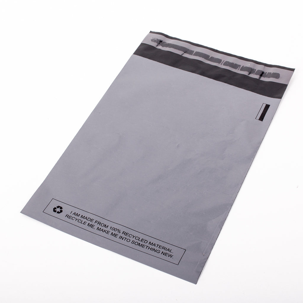 Grey Recycled Mail Bag<br>(22x30 inch/55.9x76.2cm)