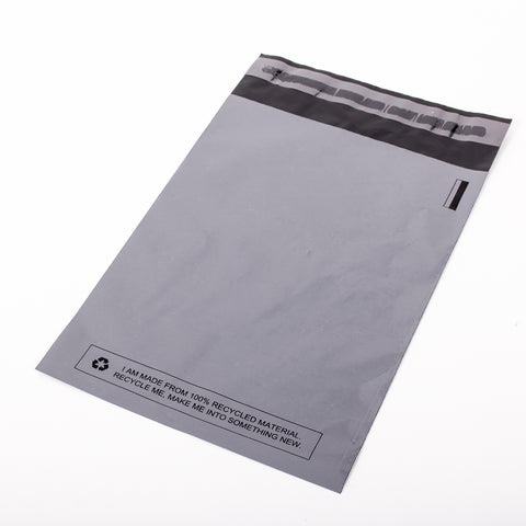 Grey Recycled Mail Bag<br>(17x22 inch/43.2x55.9cm)