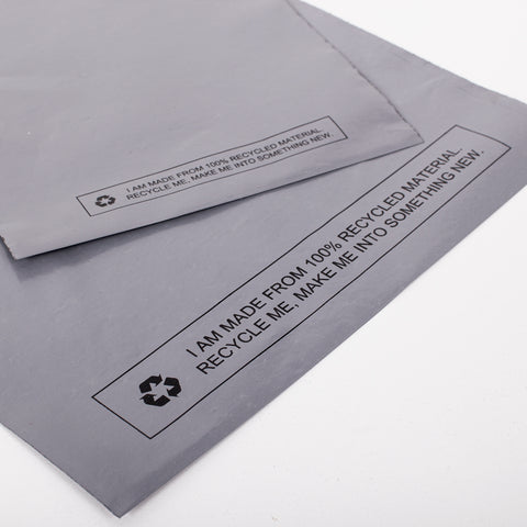 Grey Recycled Mail Bag<br>(28x30 inch/71.1x76.2cm)