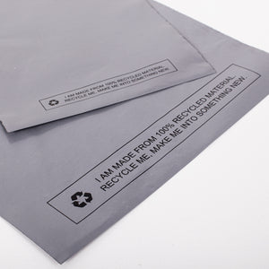 Grey Recycled Mail Bag<br>(14x21inch/35.6x53.3cm)