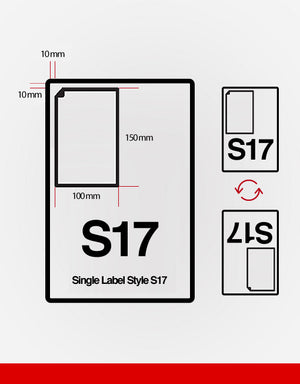 (SRL17) Single Integrated Label