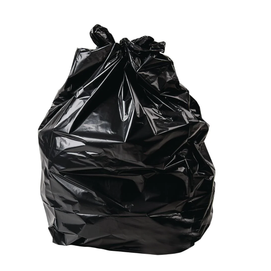 Economy Black Bin Bags 140G, 200/Box | SR Mailing | Sustainable eCommerce Packaging.