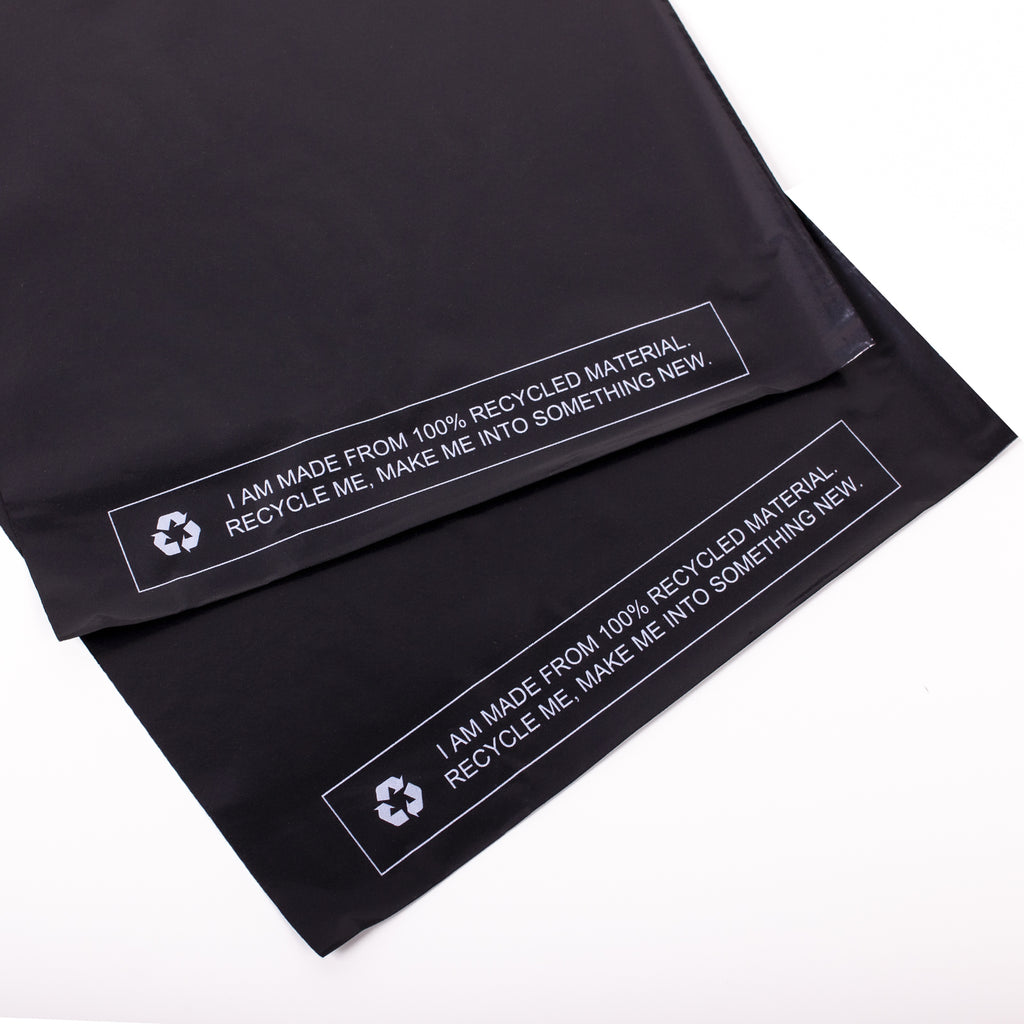 Black Recycled Mail Bag <br>(10x14 inch/25.4x35.6cm)