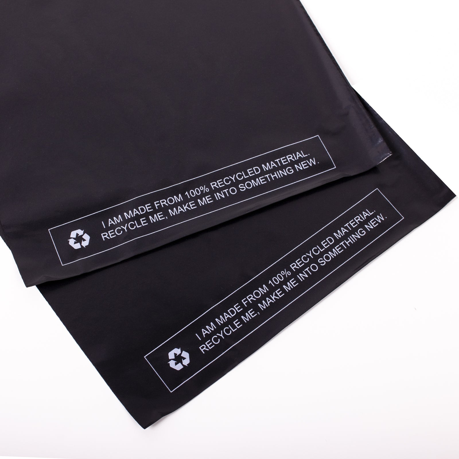 Black Recycled Mail Bag<br>(6.5x9 inch/16.5x22.9cm)