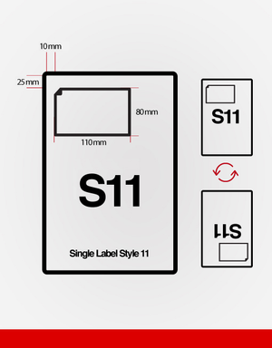(SRL11) Single Integrated Label.