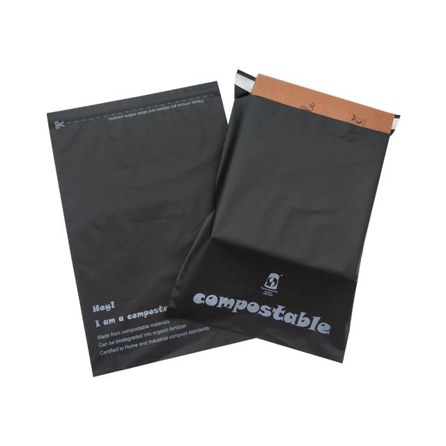 Compostable Black Mail Bag A4 Size 255x325mm,SR Mailing Ltd,