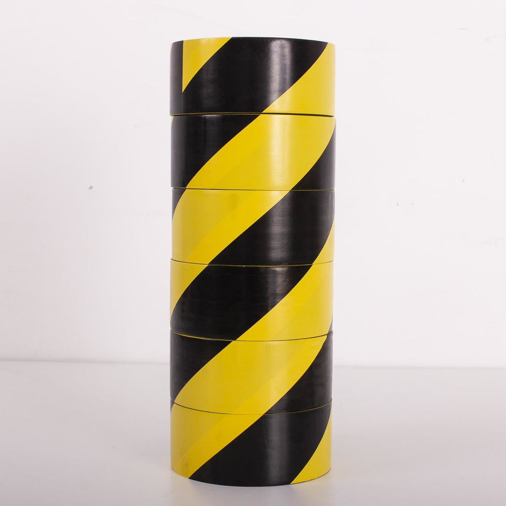 48mmx33m Black/Yellow Hazard PVC Tape,SR Mailing Ltd,