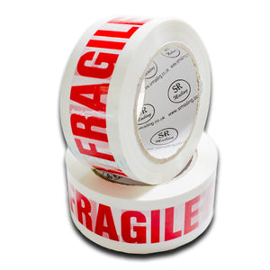 48mm x 91m (100yards) White Fragile Tapes