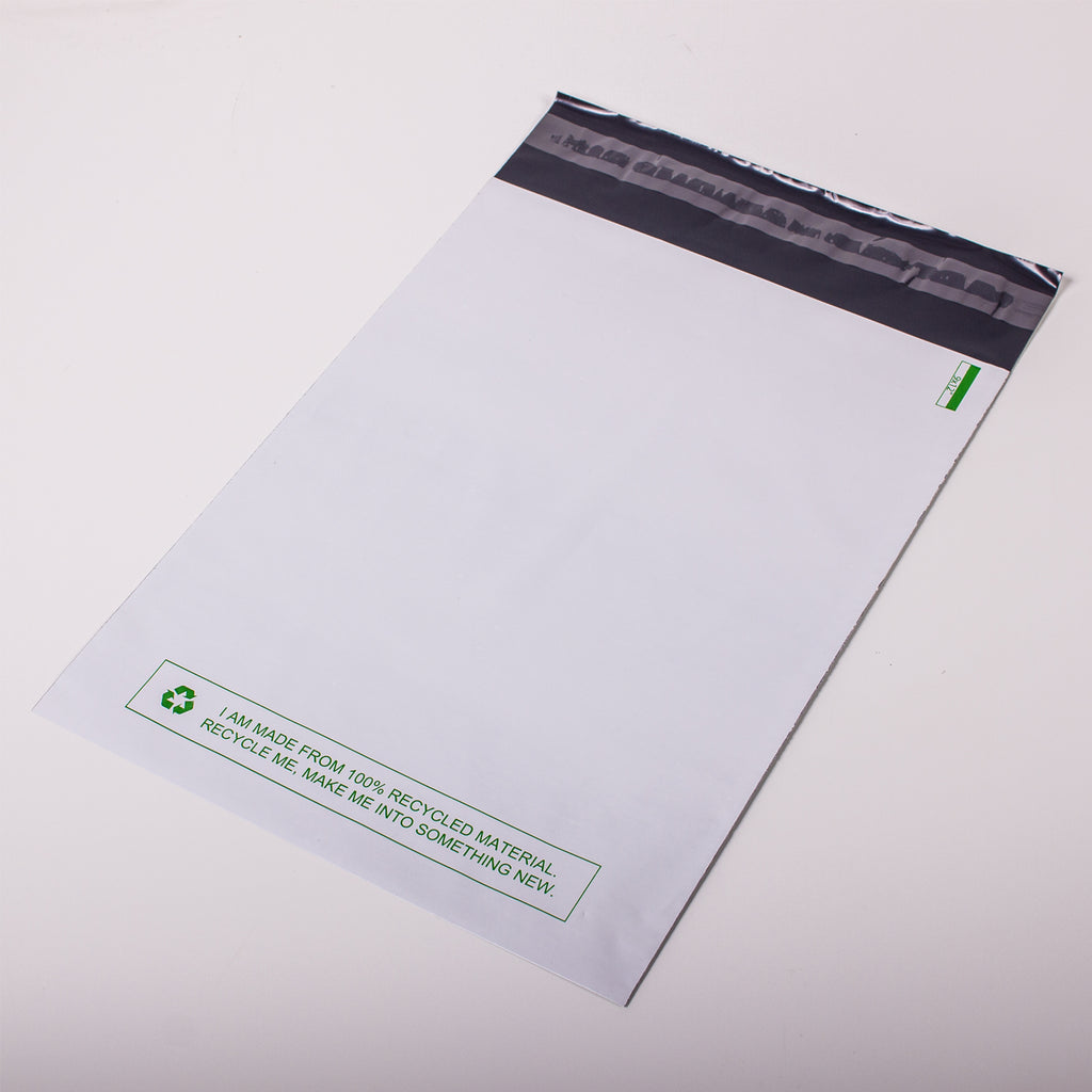 White Recycled Mail Bag<br>(10x14 inch/25.4x35.6cm)