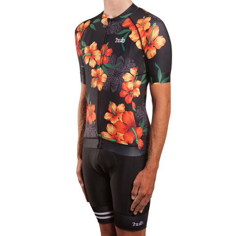 HUB Premium Short Sleeve Jersey - Hawaiian Black
