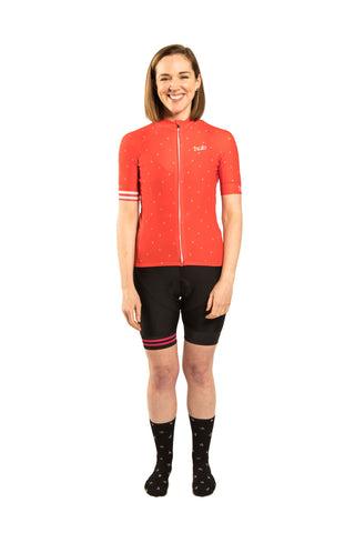 HUB Women's Premium Short Sleeve Jersey - Letters New Red