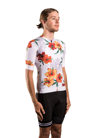HUB Premium Men's Short Sleeve Jersey - Hawaiian White