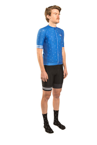 HUB Premium Short Sleeve Jersey - Letters New Blue