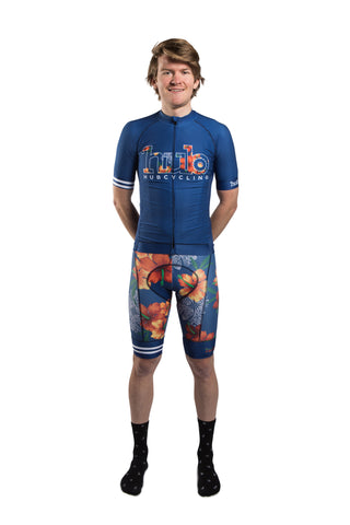 HUB Premium Short Sleeve Jersey - Hawaiian Blue Logo