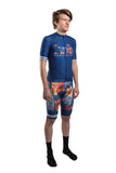 HUB Premium Men's Short Sleeve Jersey - Hawaiian Blue Logo