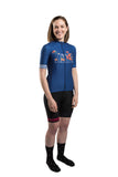 HUB Women's Premium Short Sleeve Jersey - Hawaiian Blue Logo