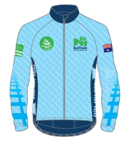 Australian Cycling Holidays - Rail Trails long sleeve jersey