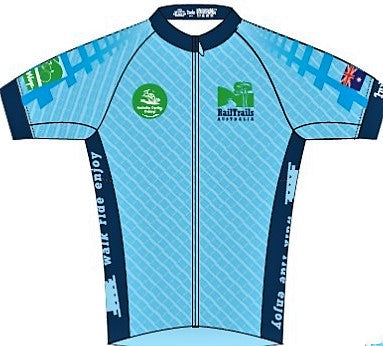 Australian Cycling Holidays -  Rail Trails short sleeve jersey