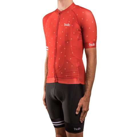 HUB Elite Short Sleeve Jersey - Letters Chilli Red