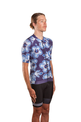 HUB Premium Men's Short Sleeve Jersey - Hawaiian Midnight