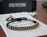 Atolyestone Bracelet - 18K YELLOW GOLD BLACK DIAMONDS