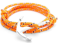Bracelet - Anchor Bracelet Orange + Silver