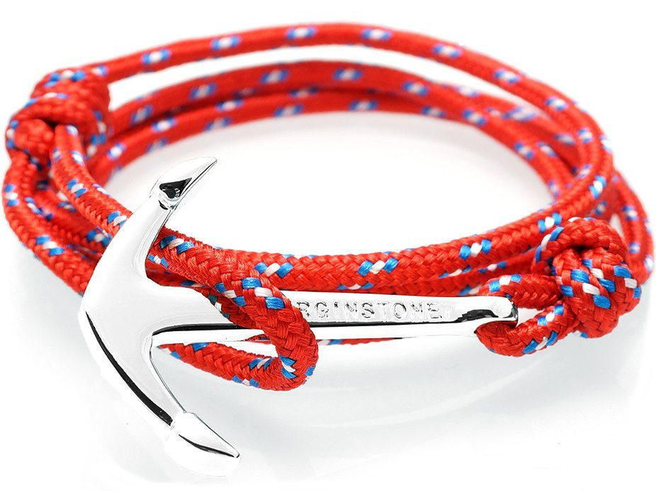Virginstone Bracelet - Anchor Bracelet Red + Silver