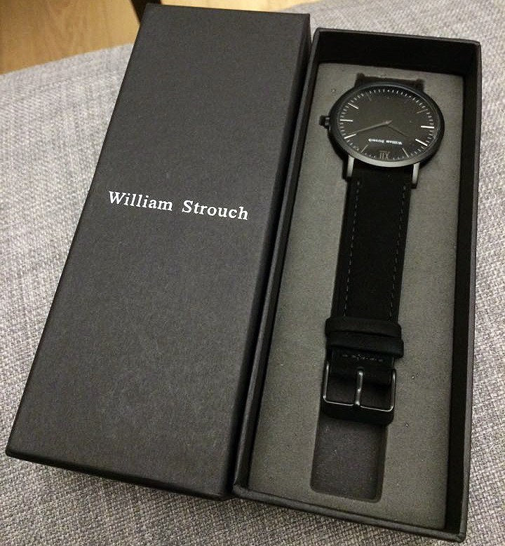 William Strouch Watch - CLASSIC BLACK gift box