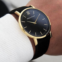 William Strouch Watch - CLASSIC BLACK + GOLD STRAP