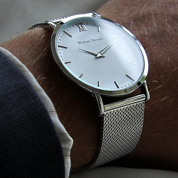 William Strouch Watch - CLASSIC BROWN + SILVER STRAP