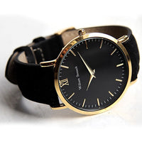William Strouch Watch - CLASSIC GOLD + LEATHER STRAP