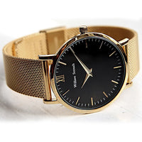 William-Strouch-Watch - CLASSIC GOLD + LEATHER STRAP