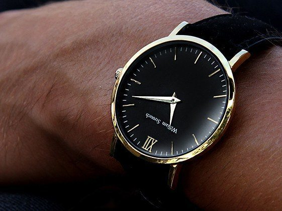 William Strouch Watch - CLASSIC GOLDEN BLACK