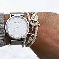 William Strouch Watch - CLASSIC SILVER + LEATHER STRAP