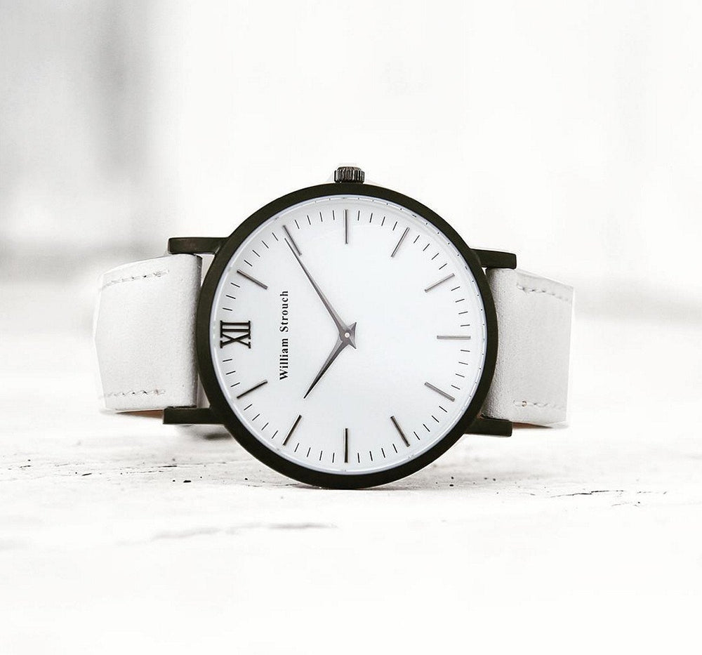 William Strouch Watch - CLASSIC WHITE + GREY STRAP
