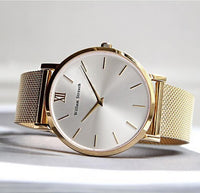 William Strouch Watch - GOLD AND SILVER STREAK + LEATHER STRAP